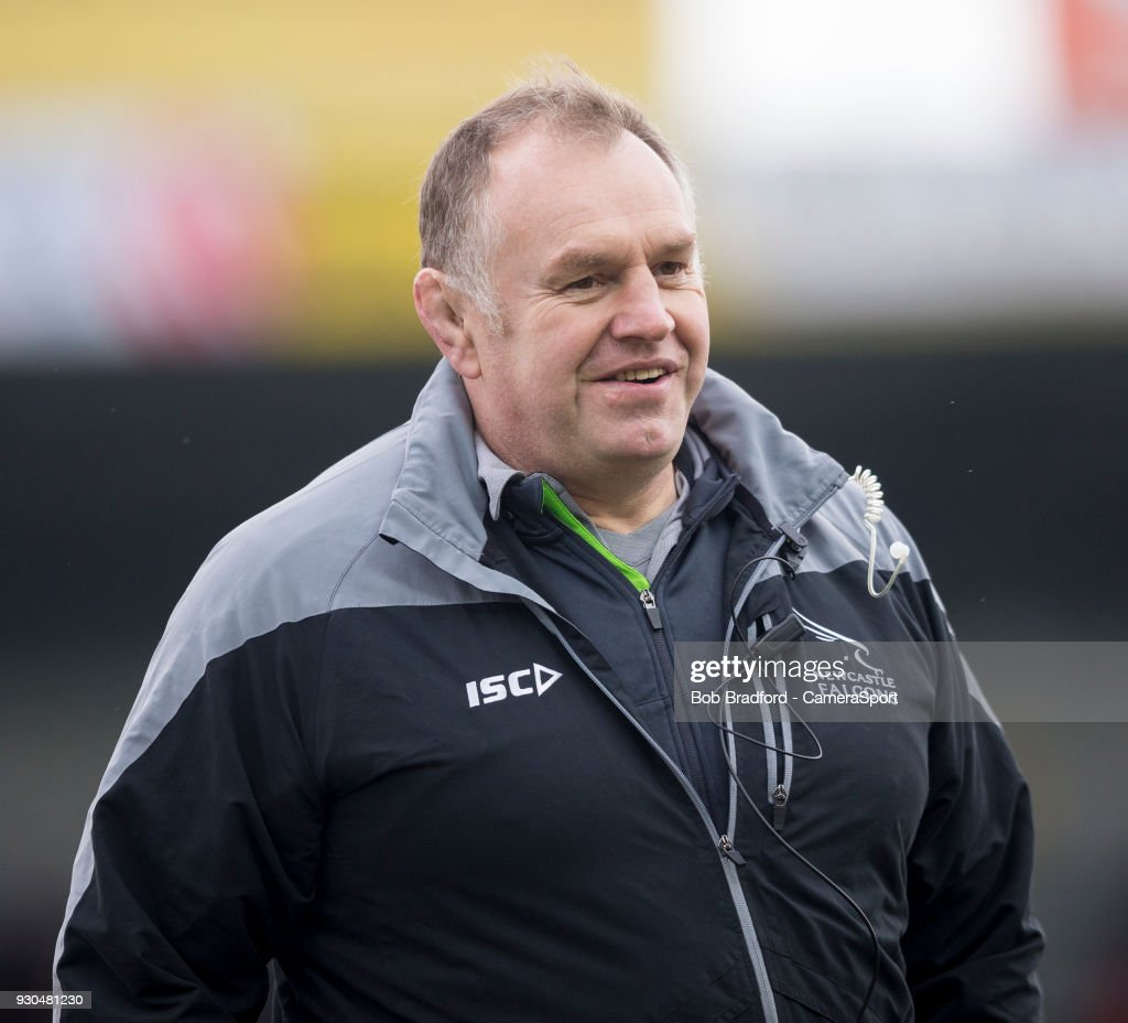 Newcastle Falcons' Head Coach Dean Richards during the Anglo Welsh Cup Semi Final match between Exeter Chiefs and Newcastle Falcons at Sandy Park on March 11, 2018 in Exeter, England.