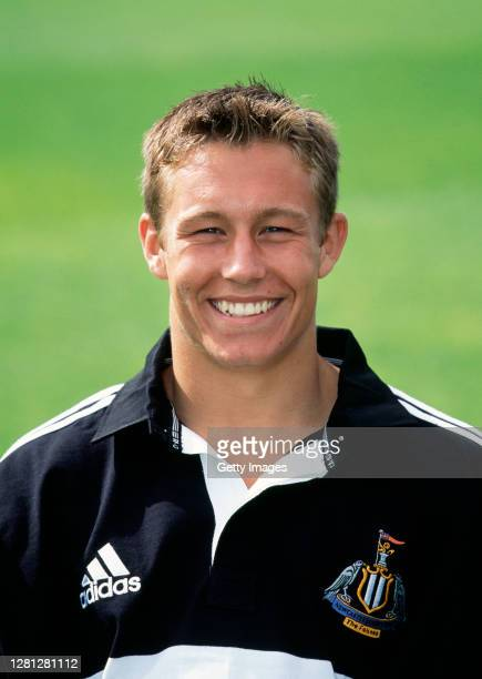 Newcastle Falcons player Jonny Wilkinson pictured in his home adidas shirt in 1999 in Gosforth England