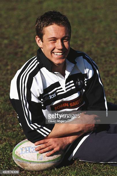 Newcastle Falcons player Jonny Wilkinson poses during a photoshoot at Kingston Park, Gosforth on March 11, 1998 in Gosforth, England.
