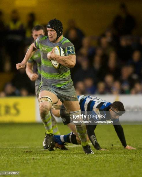 Newcastle Falcons' Ryan Burrows in action during todays match during the Anglo Welsh Cup Round Three match between Bath Rugby and Newcastle Falcons...