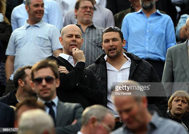 Newcastle fan and England cricketer Stephen Harmison looks on before the Coca Cola Championship match between Newcastle United and Ipswich Town at St...