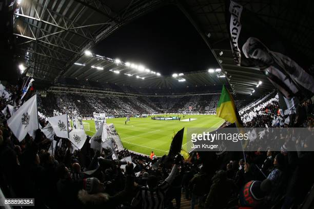 Newcastle fans look on during the Premier League match between Newcastle United and Leicester City at St James Park on December 9 2017 in Newcastle...