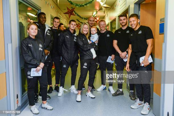 Newcastle First team reserve and Women's team seen LR Bethany Guy Yannick Toure Javier Manquillo Kyle Scott Steph Ord Jonjo Shelvey Matthew Longstaff...