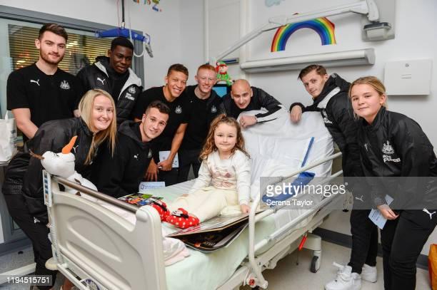 Newcastle First team reserve and Women's team seen LR Luke Charman Steph Ord Yannick Toure Javier Manquillo Dwight Gayle Matthew Longstaff Jonjo...