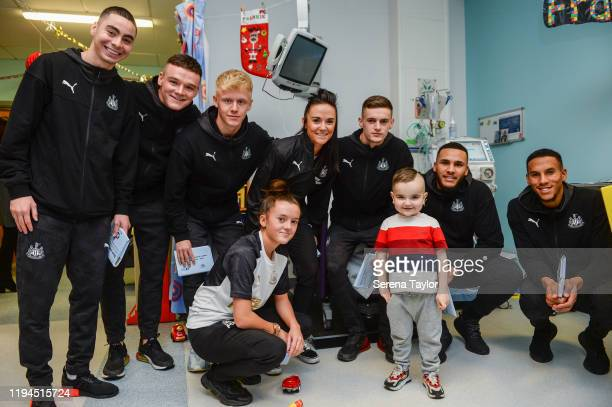 Newcastle First team, reserve and Women's team seen L-R Miguel Almiron, Owen Bailey, Jack Young, Abbie Gilchrist, Brook Cochrane, Tom Allan, Jamaal...