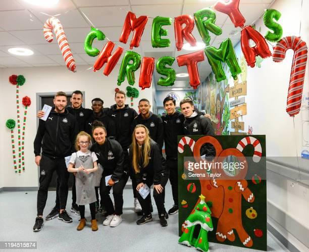Newcastle First team, reserve and Women's team seen L-R Paul Dummett, Martin Dubravka, Rosaire Longelo, Jess Foster, Florian Lejeune, Anna Soulsby,...