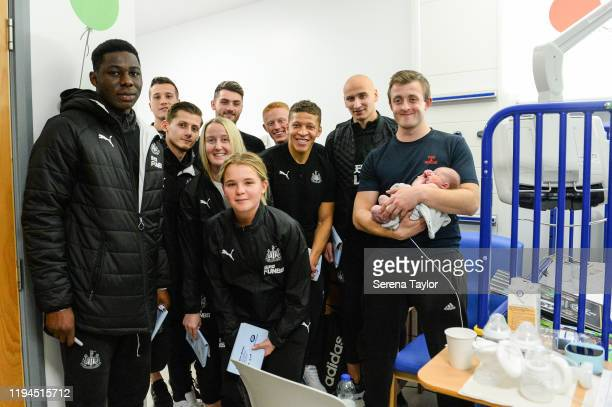 Newcastle First team reserve and Women's team seen LR Yannick Toure Javier Manquillo Kyle Scott Bethany Guy Steph Ord Luke Charman Matthew Longstaff...