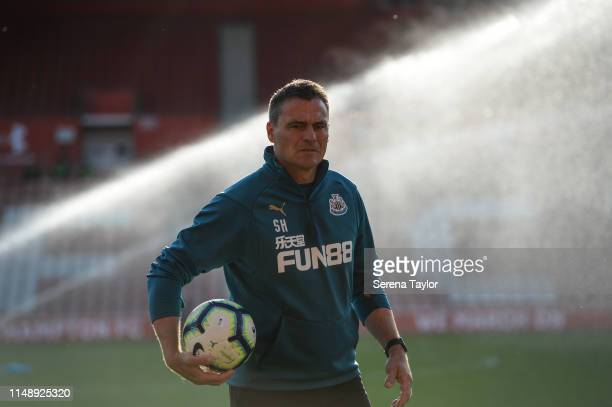 Newcastle goalkeeping coach Steve Harper during the Premier League 2 playoff final between Southampton FC and Newcastle United FC at St Mary's...
