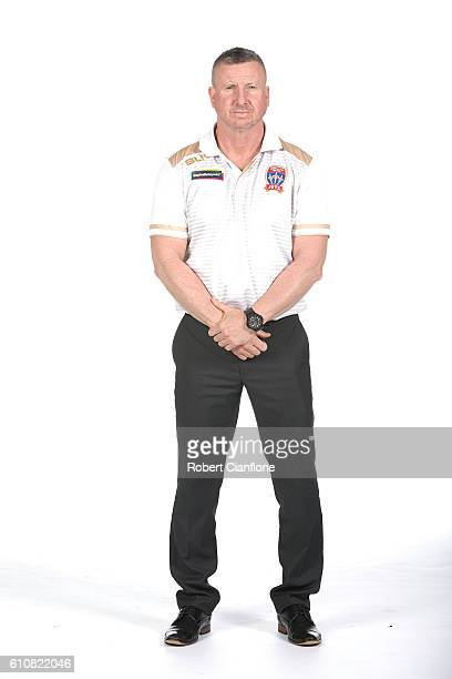 Newcastle Jets coach Mark Jones poses during the 206/17 ALeague media day at AAMI Park on September 28 2016 in Melbourne Australia