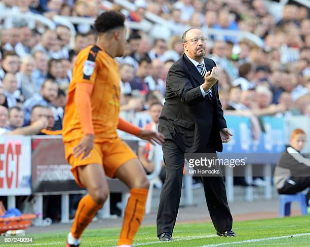 Newcastle manager Rafa Benitez during the Sky Bet Championship match between Newcastle United and Wolverhampton Wanders at St James' Park on...