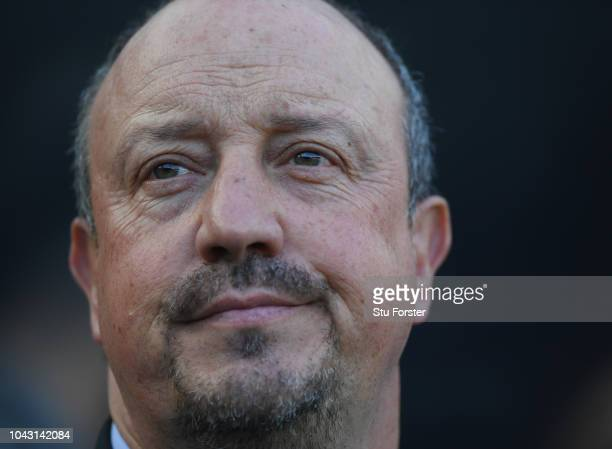 Newcastle manager Rafa Benitez looks on before the Premier League match between Newcastle United and Leicester City at St. James Park on September...