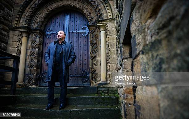 Newcastle Manager Rafael Benitez looks out from the steps at Castle Keep during a visit to landmarks in the North East of England on November 22 2016...
