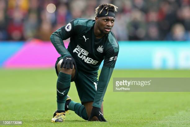 Newcastle midfielder Allan SaintMaximin during the Premier League match between Southampton and Newcastle United at St Mary's Stadium Southampton on...