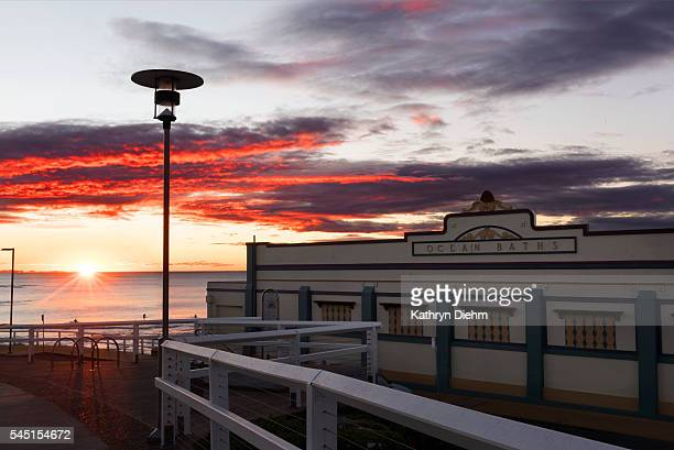 newcastle ocean baths sunrise
