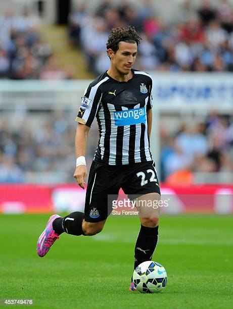 Newcastle player Daryl Janmaat in action during the Barclays Premier League match between Newcastle United and Manchester City at St James' Park on...