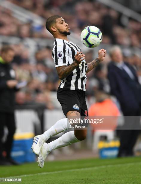 Newcastle player DeAndre Yedlin in cation during the Premier League match between Newcastle United and Crystal Palace at St. James Park on April 06,...