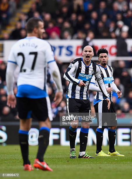 Newcastle player Jonjo Shelvey try's to inspire his team mates during the Barclays Premier League match between Newcastle United at AFC Bournemouth...