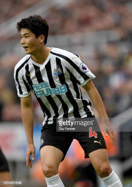 Newcastle player Ki SungYueng in action during the Premier League match between Newcastle United and Chelsea FC at St James Park on August 26 2018 in...