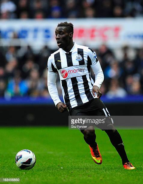 Newcastle player Massadio Haidara in action during the Barclays Premier League match between Newcastle United and Stoke City at St James' Park on...