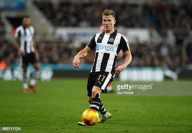 Newcastle player Matt Ritchie in action during the Sky Bet Championship match between Newcastle United and Nottingham Forest at St James' Park on...
