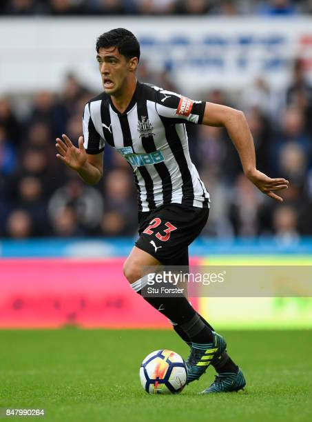 Newcastle player Mikel Merino in action during the Premier League match between Newcastle United and Stoke City at St James Park on September 16 2017...