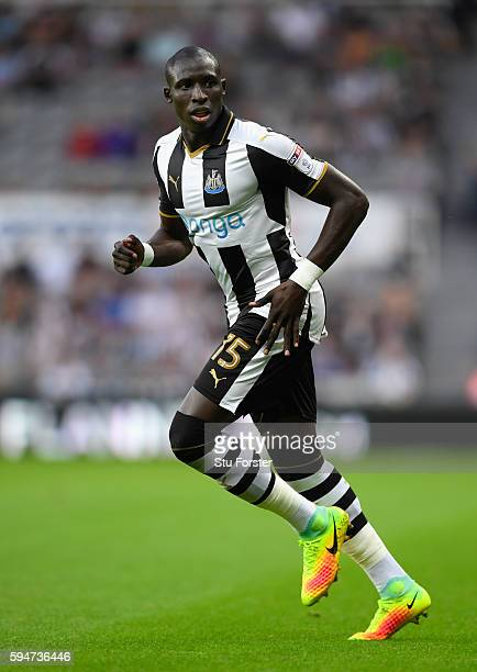 Newcastle player Mohamed Diame in action during the EFL Cup Round Two match between Newcastle United and Cheltenham Town at St James Park on August...