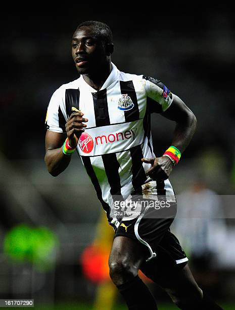Newcastle player Papiss Cisse in action during the UEFA Europa League Round of 32 first leg match between Newcastle United and FC Metalist Kharkiv at...