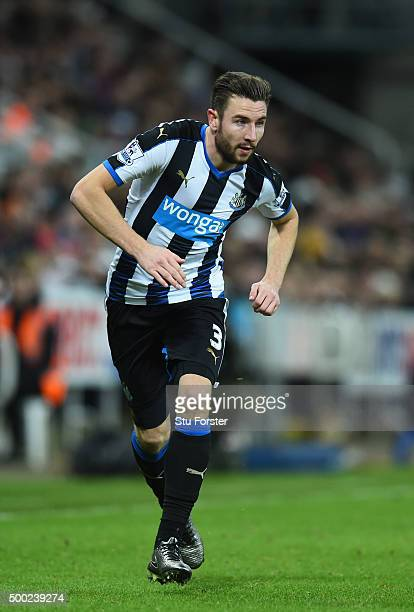 Newcastle player Paul Dummett in action during the Barclays Premier League match between Newcastle United and Liverpool at St James' Park on December...