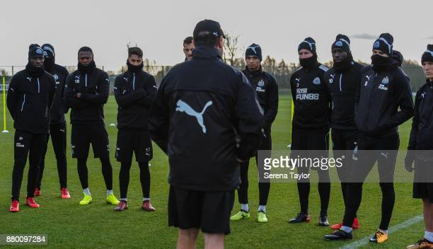 Newcastle players Massadio Haidara Aleksandar Mitrovic Chancel Mbemba Ayoze Perez Joselu Jacob Murphy Paul Dummett Mohamed Diame Jonjo Shelvey and...