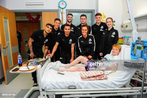 Newcastle Players seen LR Newcastle Players seen LR DeAndre Yedlin Dwight Gayle Jacob Murphy Kyle Cameron Macauley Gillesphey Megan McKensie Freddie...