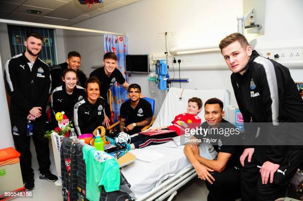 Newcastle Players seen LR Newcastle Players seen LR Kyle Cameron Victoria Curtis Dwight Gayle Megan McKensieFreddie Woodman DeAndre Yedlin Jacob...