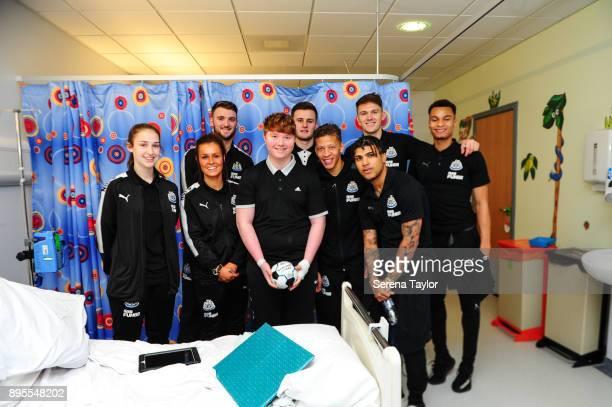Newcastle Players seen LR Newcastle Players seen LR Victoria Curtis Megan McKensie Kyle Cameron Macauley Gillesphey Dwight Gayle Freddie Woodman...