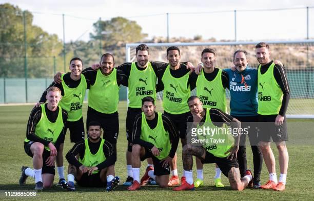 Newcastle players seen LR Sean Longstaff Miguel Almiron DeAndre Yedlin Salomon Rondon Fabian Schar Ayoze Perez Isaac Hayden Kenedy Antonio Barreca...