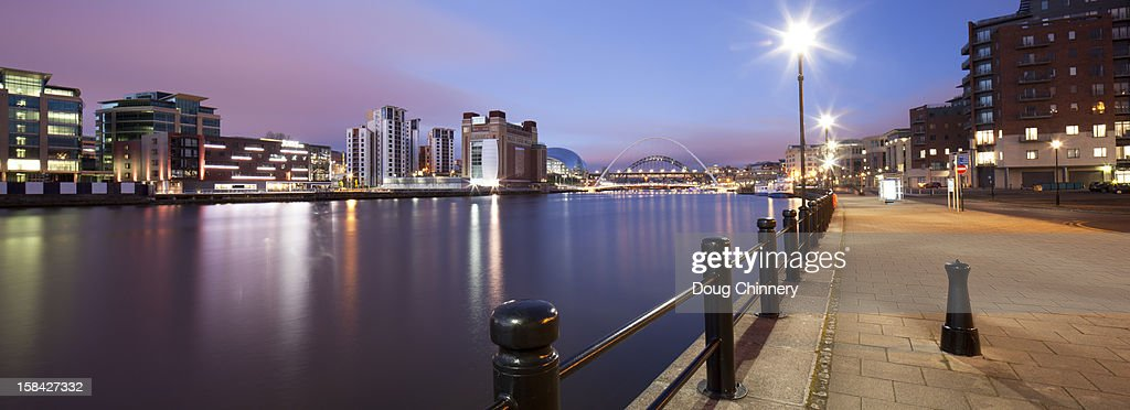 Newcastle Quayside Panorama : Stock Photo