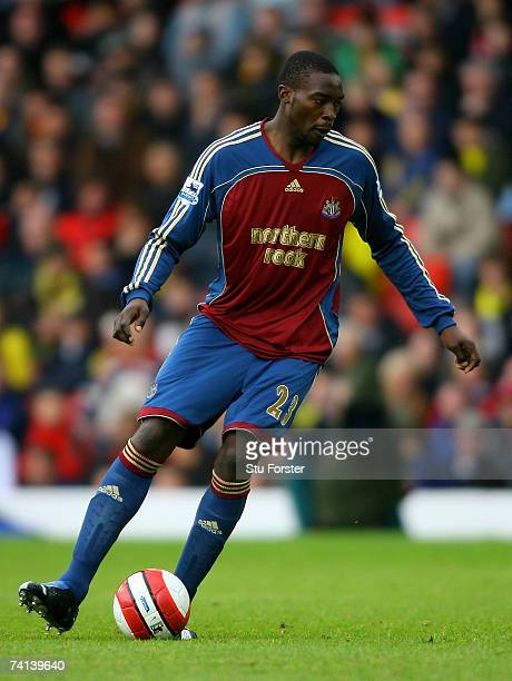 Newcastle striker Shola Ameobi makes a run during the Barclays Premiership match between Watford and Newcastle United at Vicarage Road on May 13 2007...