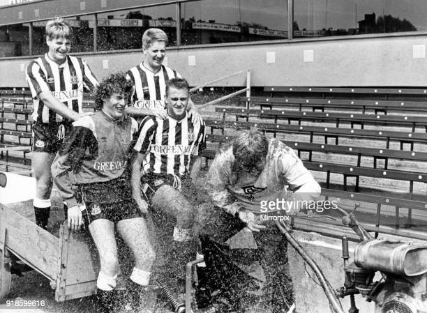 Newcastle United 1988 Pre Season new signings John Hendrie and John Robertson Dave Beasant and Andy Thorn photocall St James Park 15th August 1988...