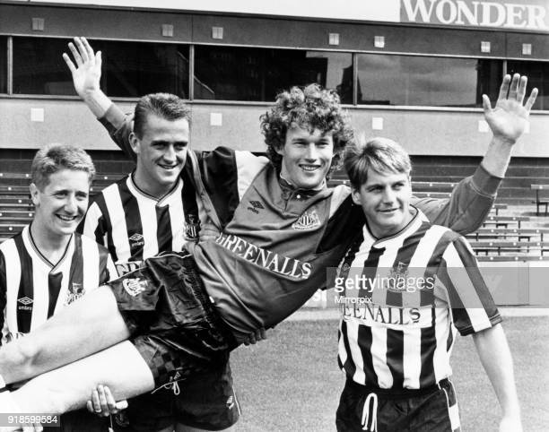 Newcastle United 1988 Pre Season new signings John Robertson Andy Thorn Dave Beasant and John Hendrie and photocall St James Park 15th August 1988