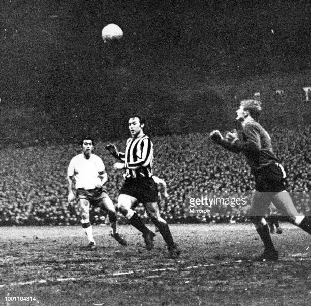 Newcastle United 2- 1 Real Zaragoza, Inter-Cities Fairs Cup 3rd round 2nd leg held at St James' Park, Newcastle, 15th January 1969.