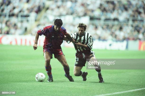 Newcastle United 32 Barcelona UEFA Champions League Group C match at St James Park Wednesday 17th September 1997 Our picture shows match action