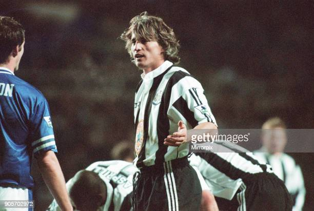 Newcastle United 43 Leicester City premier league match at St James Park Sunday 2nd February 1997 Our picture shows David Ginola