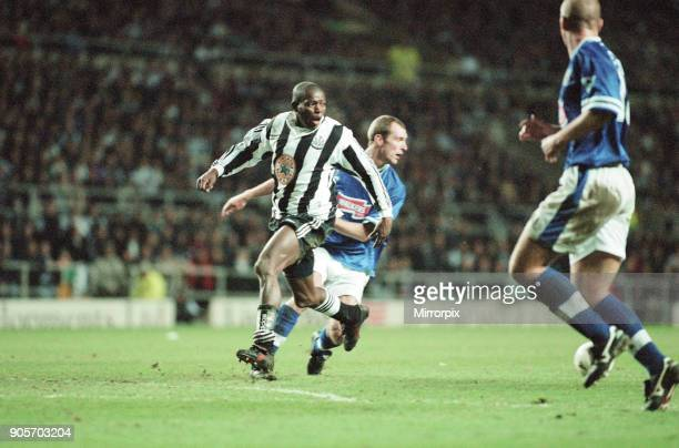 Newcastle United 43 Leicester City premier league match at St James Park Sunday 2nd February 1997 Our picture shows Faustino Asprilla