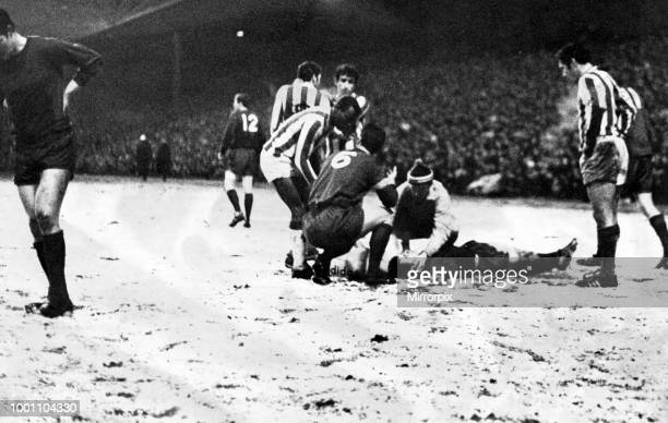 Newcastle United 5 1 Vitoria Setubal InterCities Fairs Cup Quarterfinal 1st leg held at St James' Park Newcastle 12th March 1969