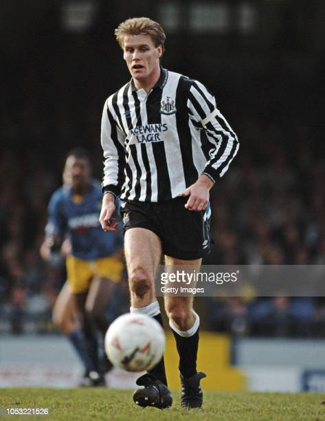Newcastle United defender Kevin Scott in action during a Second Division match against Southend United at Roots Hall on January 1st 1992 in Southend...