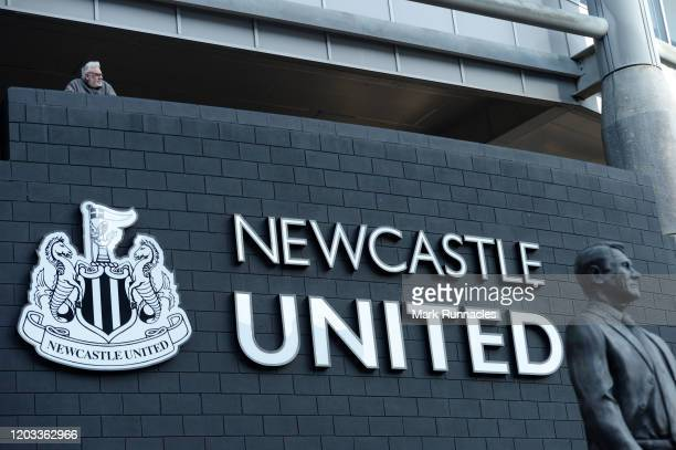 Newcastle United fan looks on prior to during the Premier League match between Newcastle United and Norwich City at St James Park on February 01 2020...