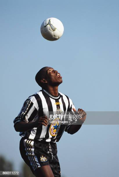 Newcastle United Faustino'Tino' Asprilla in action during a training session in 1997 in Newcastle England