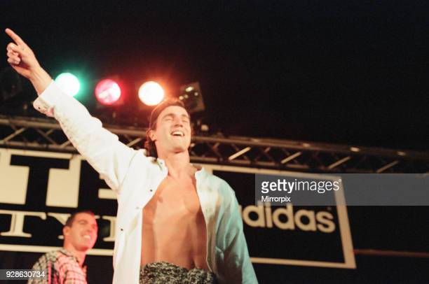 Newcastle United FC Fashion Show at St James Park Newcastle 27th September 1995 David Ginola