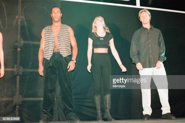 Newcastle United FC Fashion Show at St James Park, Newcastle, 27th September 1995. Les Ferdinand & Warren Barton.