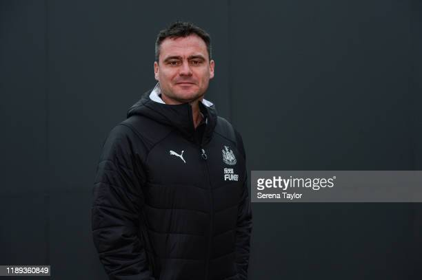 Newcastle United First Team Coach Steve Harper poses for photographs at the Newcastle United Training Centre on November 22 2019 in Newcastle upon...