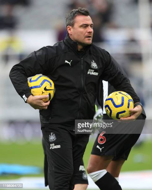 Newcastle United goal keeping coach Steve Harper during the Premier League match between Newcastle United and Norwich City at St James's Park...