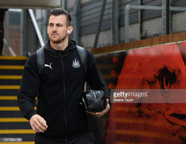 Newcastle United Goalkeeper Martin Dúbravka arrives for the Premier League match between Crystal Palace and Newcastle United at Selhurst Park on...